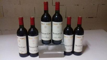 Lot de 6 bouteilles MOUTON CADET - Bordeaux...