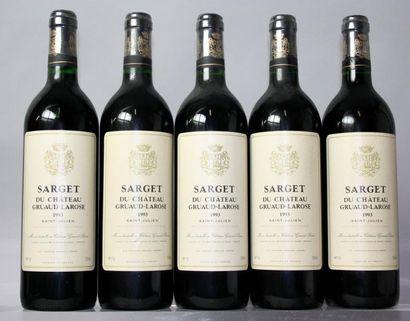 5 bouteilles SARGET de CHÂTEAU GRUAUD LAROSE...