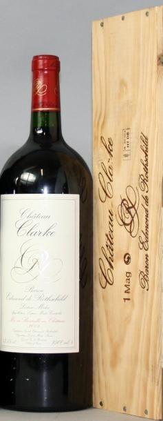 1 magnum CHÂTEAU CLARKE - Listrac 2004 Coffret....