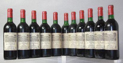 11 bouteilles CHÂTEAU LA CARDONNE - Médoc...