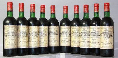 10 bouteilles CHÂTEAU DE CARTILLON - Haut...