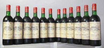 12 bouteilles CHÂTEAU DE CARTILLON - Haut...