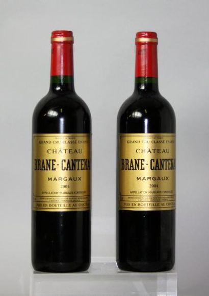 2 bouteillesCHÂTEAU BRANE CANTENAC 3éme GCC...