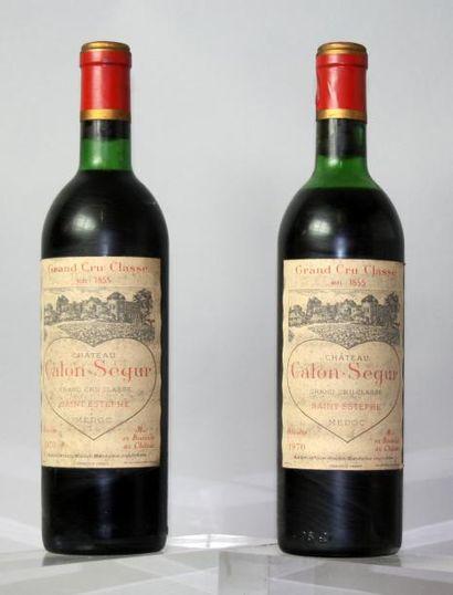 2 bouteilles CHÂTEAU CALON SEGUR 3éme GCC...