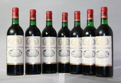 7 bouteilles CHÂTEAU DE CAMENSAC - Haut Médoc...