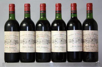 6 bouteilles CHÂTEAU du GRAND ABORD - Graves...
