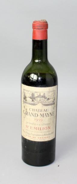 1 bouteille CHÂTEAU GRAND MAYNE GC St. Emilion...