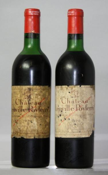 2 bouteilles CHÂTEAU LEOVILLE POYFERRE 2éme...