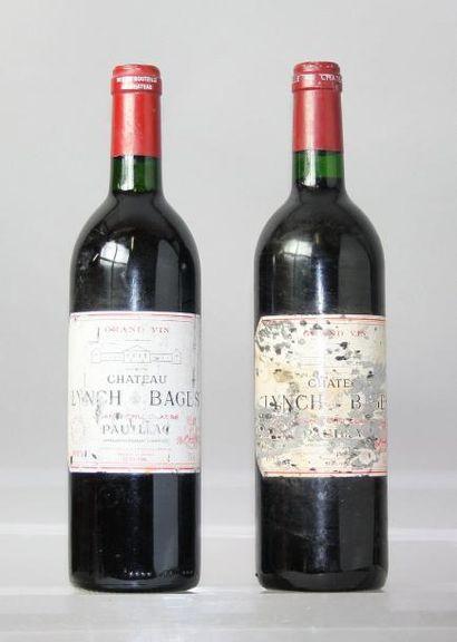 Lot de 2 bouteilles CHÂTEAU LYNCH BAGES 5éme...