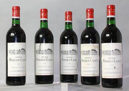 5 bouteilles CHÂTEAU PONTET CANET 5éme GCC...
