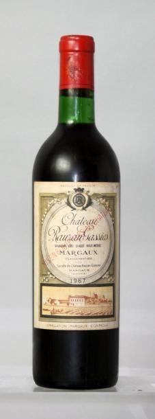 1 bouteille CHÂTEAU RAUZAN GASSIES 2éme GCC...