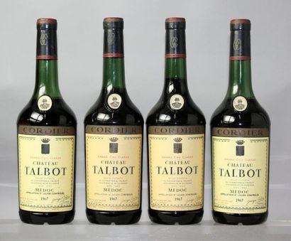4 bouteilles CHÂTEAU TALBOT 5éme GCC - St....