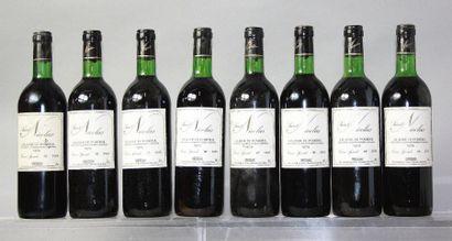 8 bouteilles CHÂTEAU St. NICOLAS - Lalande...