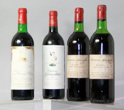 Lot de 4 bouteilles du DOMAINES ROTHSCHILD...