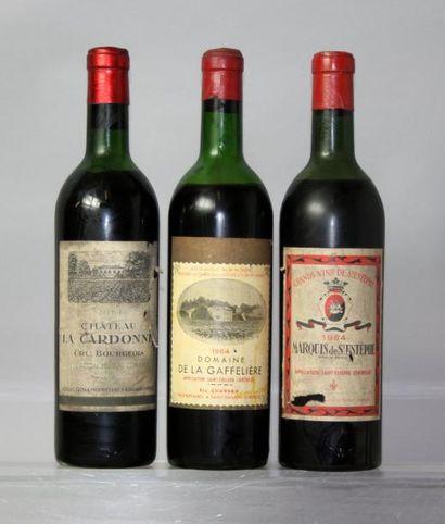 Lot de 3 bouteilles VINS ROUGES DE BORDEAUX...