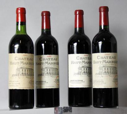 Lot de 4 bouteilles CHÂTEAU HAUT MARBUZET...