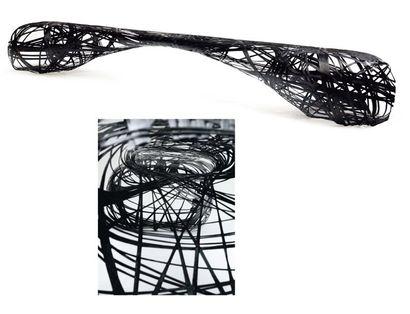 Peter Donders Prototype Banc en fibre de carbone 2010 H_60 cm L_300 cm P_40,5 cm