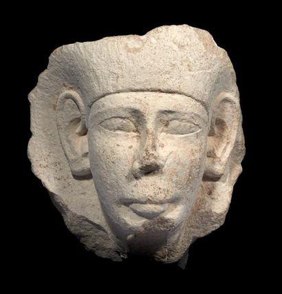 MASQUE DE SARCOPHAGE. Grand masque de sarcophage...