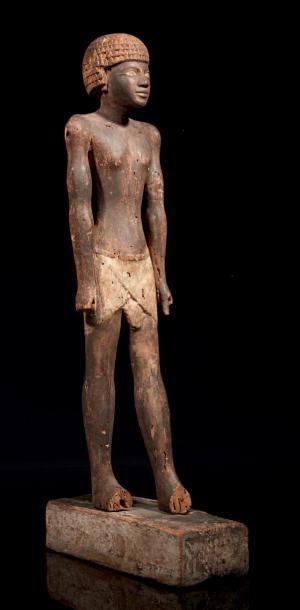STATUE DE DIGNITAIRE. Statue représentant...