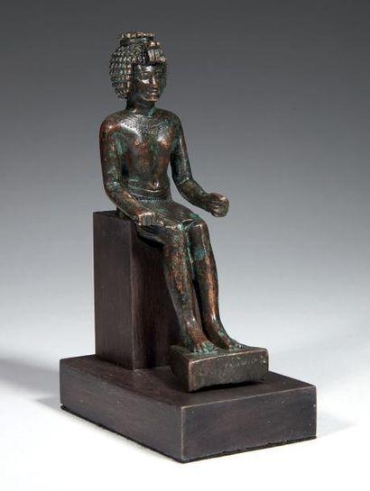 STATUETTE D'ONOURIS. Statuette votive représentant...