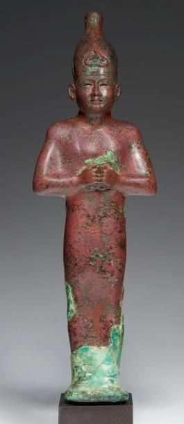 STATUETTE D'OSIRIS. Statuette votive représentant...