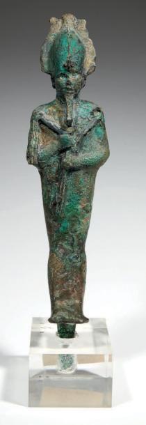 STATUETTE D'OSIRIS. Grande statuette votive...