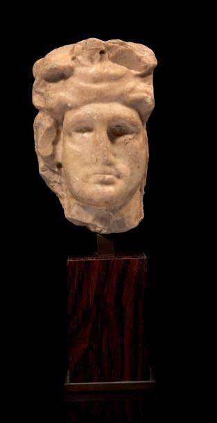 SOMMET DE PILIER HERMAÏQUE représentant Bacchus,...