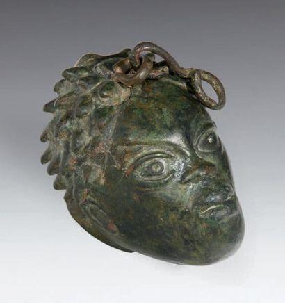 *POIDS en forme de tête de Nubien, les cheveux...