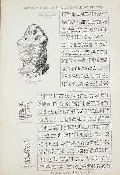 GREENE J. B. Fouilles exécutées à Thèbes dans l'année 1855. Textes hiéroglyphiques...