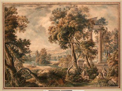 ÉCOLE HOLLANDAISE DU XVIIIE SIÈCLE, SUIVEUR DE ISAAC DE MOUCHERON