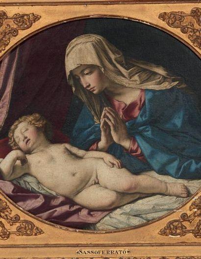GIOVANNI BATTISTA SALVI, DIT IL SASSOFERRATO (SASSOFERRATO 1609 - ROME 1685) Vierge...