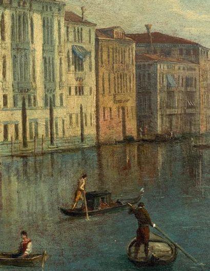 ATTRIBUÉ A JOHAN RICHTER (STOCKHOLM 1665 - VENISE 1745) Vue du Grand Canal avec la...