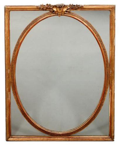 MIROIR de forme rectangulaire en bois et...