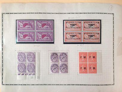 France N° Yvert 182 Congrès de Bordeaux 1923, Yvert 257A Exposition le Havre 1929...