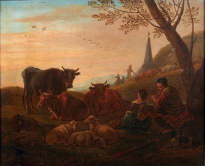 ECOLE HOLLANDAISE DU XVIIIE SIÈCLE, SUIVEUR DE KAREL DUJARDIN