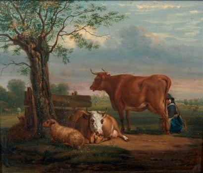 ÉCOLE HOLLANDAISE VERS 1800, SUIVEUR D'ADRIAEN VAN DE VELDE