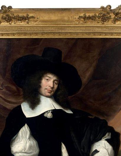 JACOB VAN REESBROECK (ANVERS 1620 - HOOGSTRATEN 1704) Portrait d'homme aux rubans...