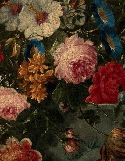 ATTRIBUÉ À JEAN BAPTISTE BOSSCHAERT (1667 - 1746) Bouquet de fleurs dans un vase...