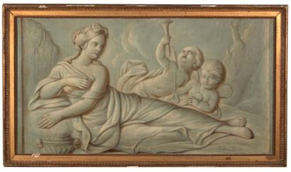Ecole FRANCAISE du début du XIXe siècle, suiveur de Piat SAUVAGE Figures allégoriques...