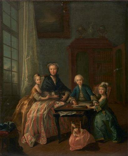 École FRANÇAISE du XVIIIe siècle, entourage de Louis Michel van LOO