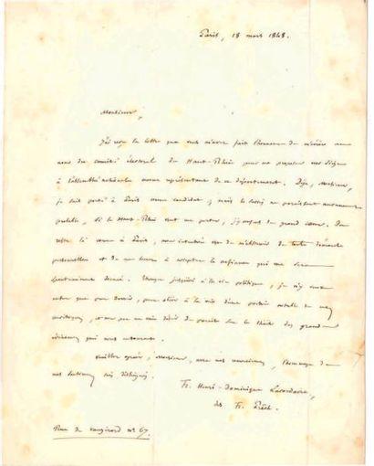 HENRI-DOMINIQUE LACORDAIRE (1802-1861)
