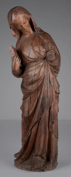 Grande Vierge de l'Annonciation en chêne...