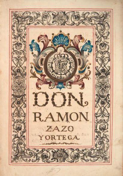 [DIPLOME de NOBLESSE ESPAGNOLE] Don Ramon...