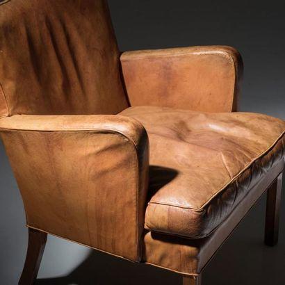 KAARE KLINT (1888-1954) Danemark Exceptionnel et très rare ensemble de salon modèle...