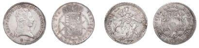 LUCQUES Taler au Saint Martin. 1756. et 2...