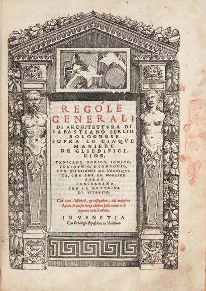 SERLIO (Sebastiano) Il primo [-quinto] libro d'Architettura. Venise: Cornelio Nicolini...
