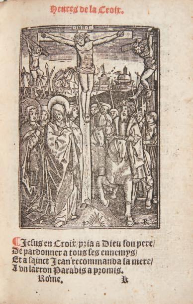 BENOIST (René) Heures de nostre Dame a Lusage de Rome en Latin & en françois nouvellement...