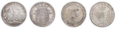 NAPLES ET SICILE 50 Grana 1693. et Piastre de 120 Grana 1748. Ferdinand IV (1759-1799)...