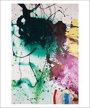 Sam Francis (1923-1994) Sans titre, P90-16, 1990 Acrylique sur toile. Signée deux...