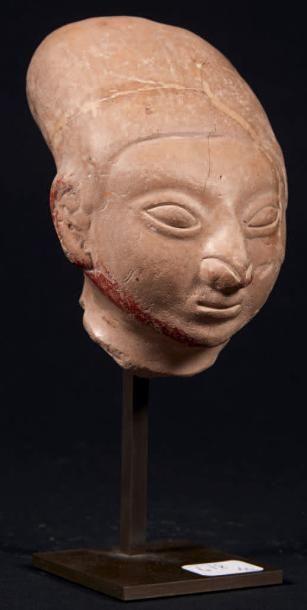 CULTURE JAMA-COAQUE Tête humaine. Equateur,...